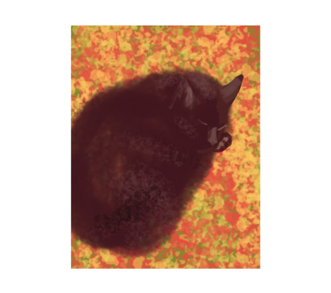 Cat painted with Brushes app